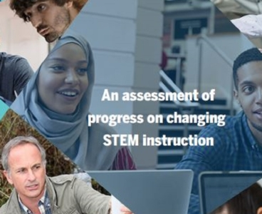 A collage of educators and students working together on STEM projects